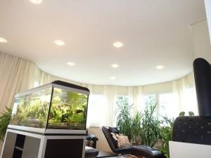 PLAMECO-Decke im Wohnzimmer